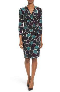 b34132a332 Anne Klein Mosaic Print Faux Wrap Dress Dress Clothes For Women