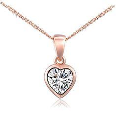 Leyu Fashion Wang Rose Gold Überzogen Swarovski Elements Kristall Süß Liebe Herz Halskette für Damen - http://schmuckhaus.online/leyu/gold-leyu-fashion-rose-gold-ueberzogen-einfach