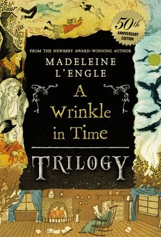 A Wrinkle in Time trilogy, by Madeleine L'Engle. Includes A Wrinkle in Time; A Wind in the Door and A Swiftly Tilting Planet.