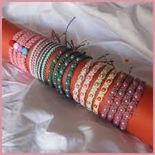 pulseras caseras hechas a mano