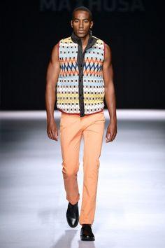 Laduma's collection at Mercedes-Benz Fashion Week Joburg 2014. Image by SDR Photo #MBFWJ