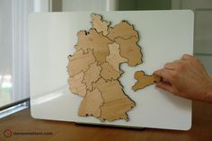 Germany Map Puzzle Birch Plywood von StevenMatternDesign auf Etsy