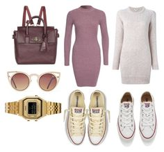 """Out and about"" by bianca-23-tb ❤ liked on Polyvore featuring moda, Kenzo, Converse, Glamorous, Mulberry, Quay, Casio, women's clothing, women e female"