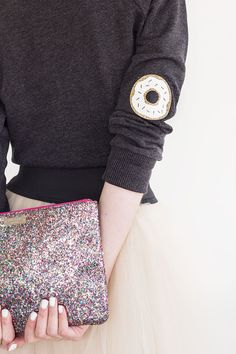 Donut elbow patch.