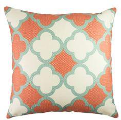 Quatrefoil Cotton Throw Pillow