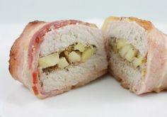 Apple Stuffed Bacon Wrapped Pork Chops via @foodieandfamily