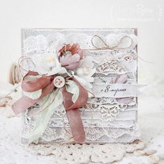 Shabby Chic Cards, Beautiful Handmade Cards, Card Tags, Flower Cards, Vintage Cards, Homemade Cards, Wedding Cards, Canvas Art, Card Making