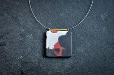 Pigmentierte konkrete Halskette von AmeliaELdesign auf Etsy