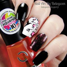 Nail Art By Belegwen: A England Camelot, Gina Tricot White, Dancel Legend Picasso and Essence Never Stop Dreaming