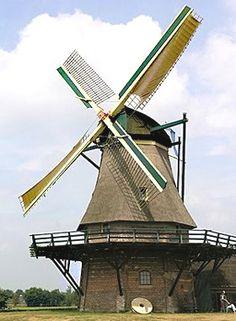 Flour mill Monnikenmolen, Sint Jansklooster, the Netherlands