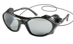 New Black Glacier Tactical Sunglasses w Side Wind Gaurds Neck Lanyard UV400 | eBay