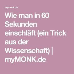 Wie man in 60 Sekunden einschläft (einGesundheit … Fitness Workouts, Yoga Fitness, Fitness Motivation, Health Fitness, Stress Less, Anti Stress, Good To Know, Feel Good, Science Tricks