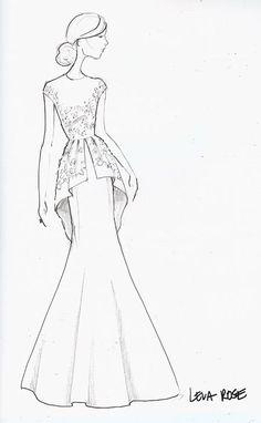 Fashion Sketches 330592428875234265 - Brides: Runway Sketch Sneak Peek: Lela Rose Source by Illustration Mode, Fashion Illustration Sketches, Fashion Sketchbook, Fashion Sketches, Sketchbook Ideas, Dress Design Sketches, Fashion Design Drawings, Drawing Fashion, Dress Design Drawing