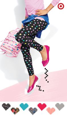 Looking for a cute, comfy and stylish back to school outfit? Start with these leggings in your favorite color or pattern. Add a colorful pair of flats, a coordinating top and cardigan and set her up for a perfect year.
