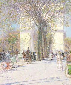 Childe Hassam: Washington Arch, Spring, c. 1893  Phillips Collection, Washington, D.C.