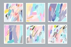 Gentle vector decorative collection. Templates of artistic posters, cards and invitations PLUS 12 Hand Tags Unusual bright collection. Beautiful artistic backgrounds and textures. Ideal for
