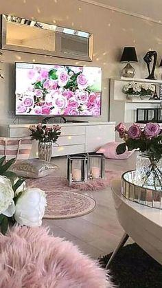 Glam Living Room, Living Room Decor Cozy, New Living Room, Living Room Interior, Home Interior Design, Bedroom Decor, Interior Modern, Interior Paint, Cozy House