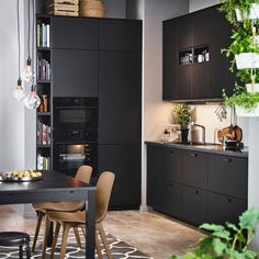 Wishlisted: Kungsbacka by Ikea (+ discover our current kitchen!) – polienne – Home Office Design Layout Ikea Kitchen Design, Ikea Design, Küchen Design, Home Decor Kitchen, Kitchen Furniture, Kitchen Interior, New Kitchen, Kitchen Dining, Black Ikea Kitchen
