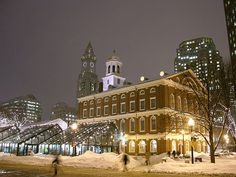 And Faneuil Hall at night.
