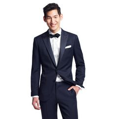 Liking this navy tux from j crew. The Ludlow has become a new standard
