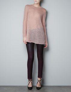 TWO-TONE SWEATER - Knitwear - Woman - ZARA Netherlands