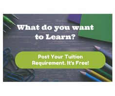 Need a Great #Teacher & #Trainer?  Post your tuition Requirement - It's Free! - https://thetuitionteacher.com/request-a-tutor/