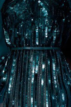 Dark Teal Sequin Dress ~ Elie Saab RTW F/W 2014