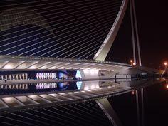 Vista nocturna del Ágora. Valencia