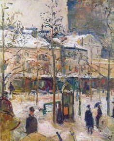 Camille Pissarro - Boulevard de Rocheouart in Snow 1878