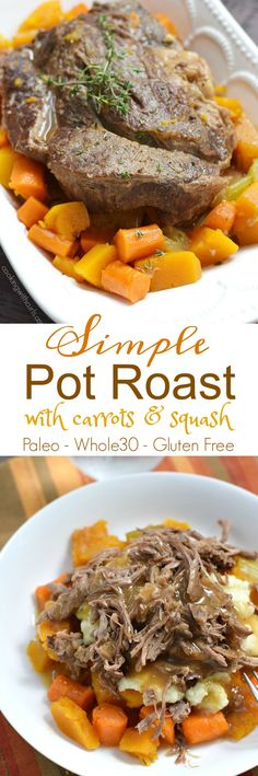 This Simple Pot Roast with Carrots and Squash is so delicious, your family will never guess that it is healthy | cookingwithcurls.com