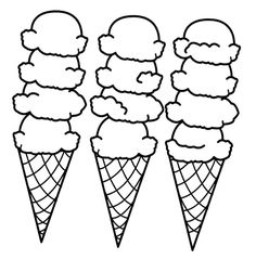 big ice cream cones coloring page