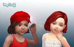 Amalia Hairstyle for Toddlers by Kiara24 Available in default textures, all colors. Available for the base game. http://mystufforigin.com/amalia-hairstyle-toddlers/