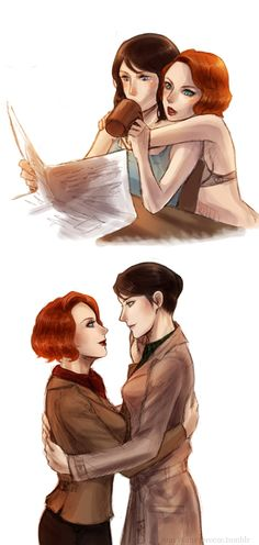 Maria Hill and Natasha Romanova (Black Widow)  #Martasha #Avengers