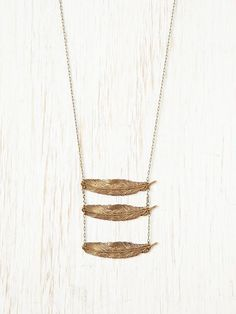 Falling Feathers Necklace