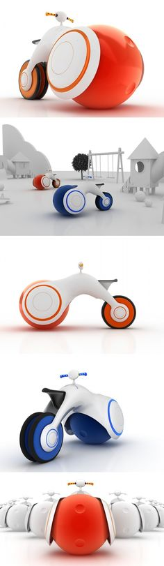 The #B.Bike aims to give tots a head start when learning to ride a real bicycle by providing a fun and super-safe way of scooting around! #Design #Innovative #Creative #Inspiring #Beautiful #Design #Bike #YankoDesign #YankoDesign
