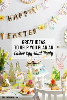 Plan the perfect Easter party with these ideas. Everything from egg hunt ideas to Easter decor.