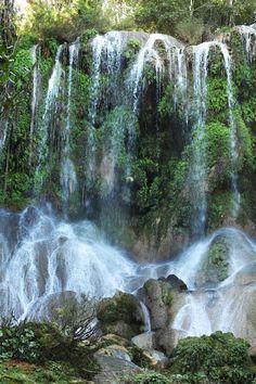 El Nicho waterfalls, past the town of Cienfuegos, Cuba.