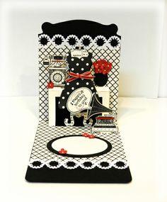 Dress Form Pop 'n Cuts and Dress up Framelits set. Love this card by Fran Sabad! stampersblog: Timeless Talk