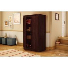 South Shore Morgan 2-Door Storage Cabinet, Royal Cherry, Brown