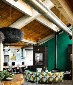monkey inferno/ ken fulk designs Ken Fulk, Monkey, Resume, Bakery, Conference Room, Restaurant, Living Room, Table, Projects