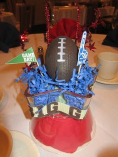 Football Party Centerpiece #football #decor