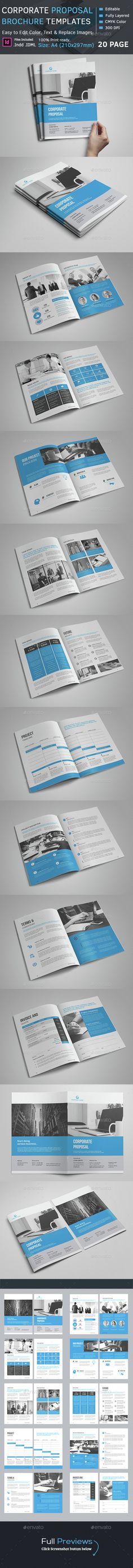 Proposal Template u2014 Photoshop PSD #company proposal #corporate - it services proposal template