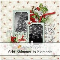 Shimmering Elements | Digi Scrap Tutorial @ DigitalScrapper.com Add a touch of shimmer to any element using the Noise filter and Blend Modes. Use these elements to add a little sparkle to any scrapbook page. http://digitalscrapper.com/blog/shimmering-elements/