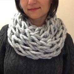 Arm knit scarf Infinity scarf Chunky knit scarf Cowl Snood Knit cowl Knit snood Grey scarf Women's scarf Grey snood Grey cowl Gift for her by TheScarfRoom on Etsy