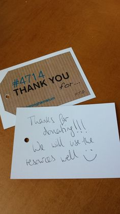 """""""Thanks for donating!"""" #4714UoB"""