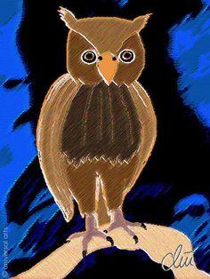 JACQUELINE DITT - Eule ltd.Original Grafik signiert Bilder xx Vogel Bilder Tier