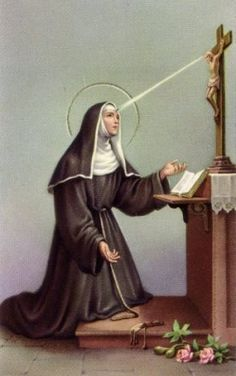 St. Rita.  My favorite and the Saint whose name I took at confirmation.  Patron Saint of hopeless causes......very fitting.