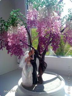 Бонсай, топиарий Бисероплетение: Деревья из бисера Бисер. Фото 1