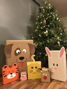Gifts wrapping ideas - animals