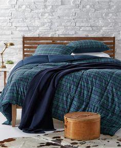 Lauren Ralph Lauren Blackwatch Reversible Plaid Yarn-Dyed King Down  Alternative Comforter Bed   Bath - Comforters  Down   Alternative - Macy s e6ecefbfacd20